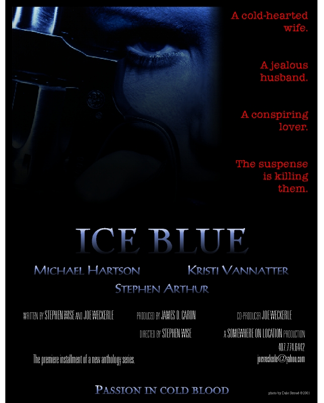 Ice Blue Poster
